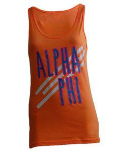 Alpha Phi Fall In Love Tank by Adam Block Design | Custom Greek Apparel & Sorority Clothes | www.adamblockdesign.com
