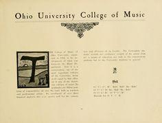 "Athena Yearbook, 1908 ""Ohio University College of Music""::Ohio University Archives"