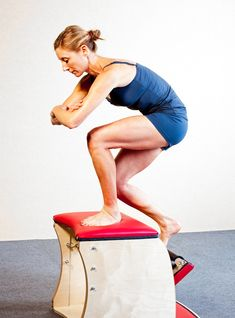 An interview with Alisa Wyatt of Pilatesology The Mountain Climber on Pilates Wunda Chair made by Gratz