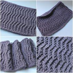 Ravelry: Waves Cowl pattern by Thomasina Cummings Designs Knitting Patterns, Crochet Patterns, Ravelry, Headbands, Pattern Design, Crochet Hats, Waves, Scarfs, Cowls