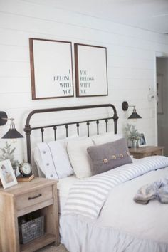 Comfy Bedroom Design And Decor Ideas With Farmhouse Style 17