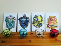 Harry Potter Party House Badge Decorations  - writingintotheether.com