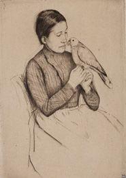 Mary Cassatt: The Parrot, 1890