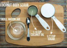 Homemade Coconut Body Scrub DIY