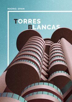 marta colmenero architectural poster torres blancas