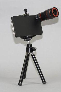 Yamamoto Industries 8x Telephoto Lens Kit for iPhone 4/4S Black