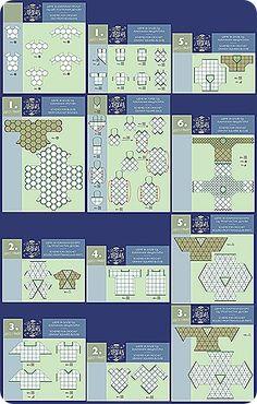 Composicion Formas Geometricas Crochet - Patrones Crochet
