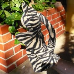 Etsy の Black Striped Cat Fleece Puppet by CreationsByJudy