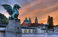 How Come the Symbol of Ljubljana is a Dragon? - The Slovenian Convention Bureau European City Breaks, Tivoli Gardens, Central And Eastern Europe, Trip Planner, Weekend Trips, Capital City, Park City, Montenegro, Old Town