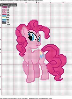 Pinkie Pie Cross Stitch Pattern, FREE :-) my-little-pony-friendship-is-magic Cross Stitch For Kids, Cross Stitch Baby, Cross Stitch Charts, Cross Stitch Patterns, Cross Stitching, Cross Stitch Embroidery, Embroidery Patterns, Little Poney, My Little Pony