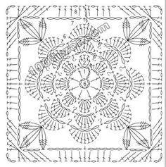 Transcendent Crochet a Solid Granny Square Ideas. Inconceivable Crochet a Solid Granny Square Ideas. Motif Mandala Crochet, Crochet Motif Patterns, Crochet Circles, Crochet Blocks, Granny Square Crochet Pattern, Crochet Chart, Crochet Squares, Crochet Granny, Filet Crochet