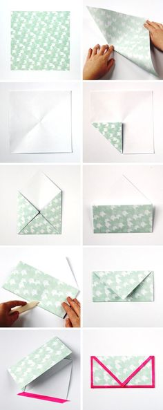 How to make Diy Folded Envelopes With Washi Tape Trim in under 10 minutes