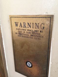 Elevator plate at the Jefferson Memorial