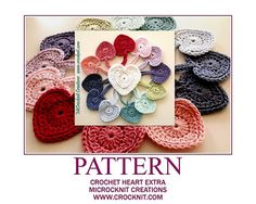 """A """"simply perfect"""" HEART motif pattern - quick and easy. Choose your yarn and hook size, make it with two colours or just one colour."""