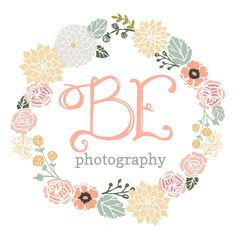 pre-made logo design customize for BE Photography   b is for bonnie design  bisforbonniedesign.com