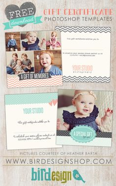 Free Photoshop Gift Certificate template
