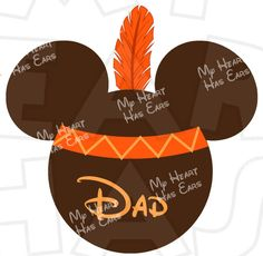 Mickey Mouse Indian INSTANT DOWNLOAD Thanksgiving digital clip art DIY for shirt :: My Heart Has Ears