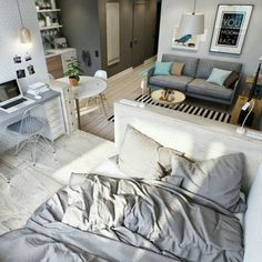 มาค่ะสาวๆ มาแชร์ไอเดียจัดสรรห้องพักแบบ Studio ให้เหลือพื้นที่ น่านอนมากค่าา  รูปที่ 17