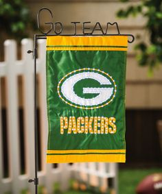 Take a look at this Green Bay Packers Fiber Optic Double-Sided Garden Flag on zulily today!