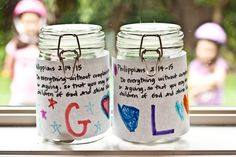 Philippians Jars--great idea to stop fighting, arguing and complaining among siblings.