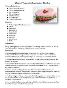Rezept Vegane Erdbeer-Joghurt-Torte