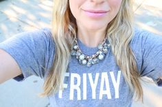Fun FRIYAY Finds | Love this FRIYAY shirt for Friday! Can I wear it every Friday??? - Jill of All Trades Shirts and Totes handmade in the USA