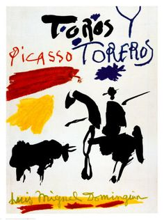 "*Picasso ""Bull with Bullfighter"" - Love the primary colors."