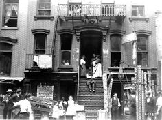 """Early 1900's - NYC, Lower East Side of Manhattan in the, """"Jewish Quarter"""". A view of immigrant life during America's Gilded Age. ~ {cwlyons}"""