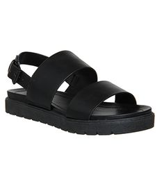 Office Optic Double Strap Sling Sandals Black - Sandals