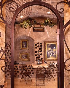 Wine Cellar, Custom Designed for a wine enthusiast