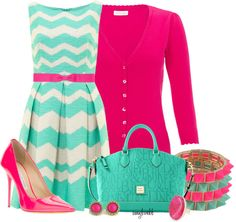 """Chevron Dress Contest 2"" by amybwebb ❤ liked on Polyvore"