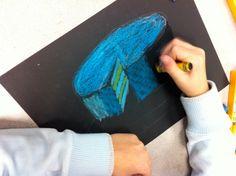 4th grade art level shapes shading & texture
