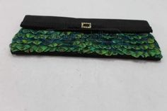 shopgoodwill.com: Unique Peacock Feathered Clutch Purse