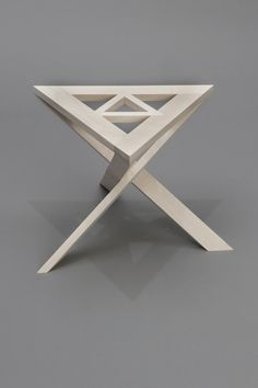 Continuous Triangle Stool by Flora Qiangwei Zhu, via Behance