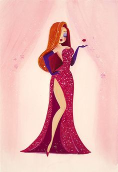 """Liana Hee Jessica Rabbit << This is honestly one of the first Jessica Rabbit art pieces I would say is """"cute"""" over sexualized."""