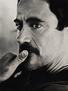 RDJ – Robert Downey Jr | Blue Crayon #art #drawing #pencil #graphite #charcoal #ironman #robertdowneyjr #avengers #rdj #tonystark