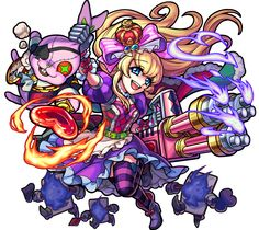 Alice, Queen of Wonderland Monster Strike, Character Concept, Character Art, Character Design, Cartoon Gifs, Cartoon Drawings, Puzzles And Dragons, Archie Comics, Anime Characters