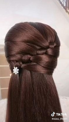 Easy Hairstyles For Long Hair, Headband Hairstyles, Trendy Hairstyles, Hairstyles Videos, Modern Haircuts, Wedding Hairstyles, Hair Up Styles, Medium Hair Styles, Hair Style Vedio
