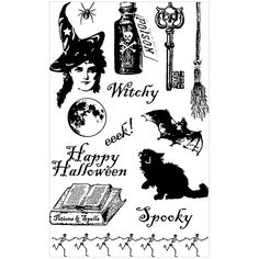 1sheet DIY New Rubber Stamp Seal for scrapbooking/photo album Decorative silicone stamp Halloween
