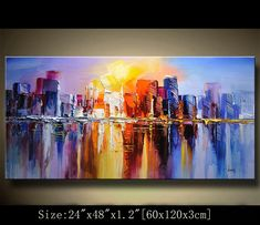 Abstract Wall Painting, Original Palette Knife Painting,Texture Acrylic Painting,Multicolored cityscape,Wall Contemporary art by chen 0912 - Remote Photos Texture Art, Texture Painting, Abstract Canvas, Canvas Art, Abstract Paintings, Painting Art, Modern Art For Sale, Palette Knife Painting, Palette Wall