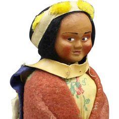 Skookum Indian Doll with Side Glancing Eyes -- found at www.rubylane.com #thedollworldshome
