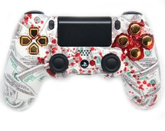 "This is our Limited ""Gold Blood Money"" PlayStation 4 Modded Controller. It is a perfect gift for a special gamer in your life. Order yours today at: http://moddedzone.com/ You can also visit our eBay store at: http://stores.ebay.com/moddedzone/"