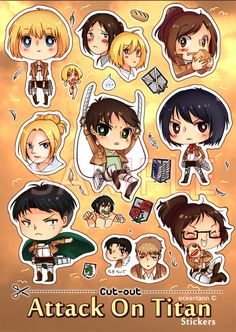 Cut-Out AoT Stickers by oceantann