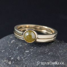 Gold Olive Green Rose Cut Diamond Ring Set - Matching Band - Choose Your Setting Green Rose, Or Rose, Olive Green, Rose Gold, Rose Cut Diamond, Diamond Stone, Thing 1, Engagement Ring Settings, Engagement Rings