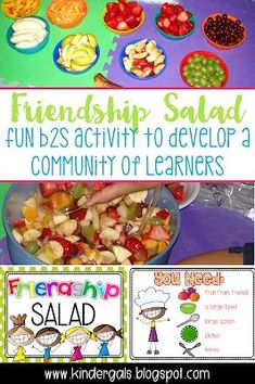 Making Friendship Salad to Build Community in the Classroom