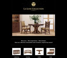 New year. New inspirations. New designs. Check out our new campaign of beautiful rustic furniture inspired by nature!