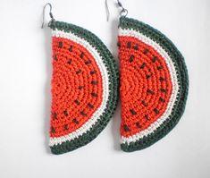 Watermelon Earrings Earrings handmade with watermelon slices