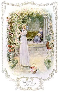 """While Fanny cut the roses"" Mansfield Park, Jane Austen"