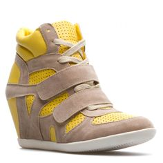 colorblocked high-top wedge