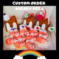 Felt Gifts, Facebook Sign Up, Foxes, Small Businesses, Cosy, Rainbow, Group, Christmas Ornaments, Holiday Decor